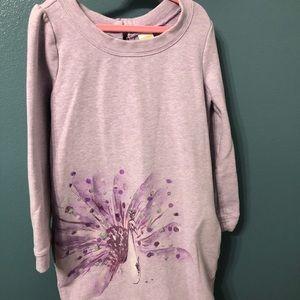 Gymboree Lilac SPARKLING Peacock sweatshirt dress